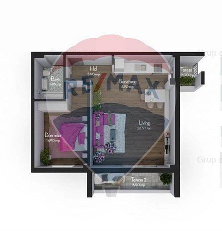 Apartament 2 camere 57 mpu | Direct Dezvoltator | Fara comision la achizitie - imaginea 1