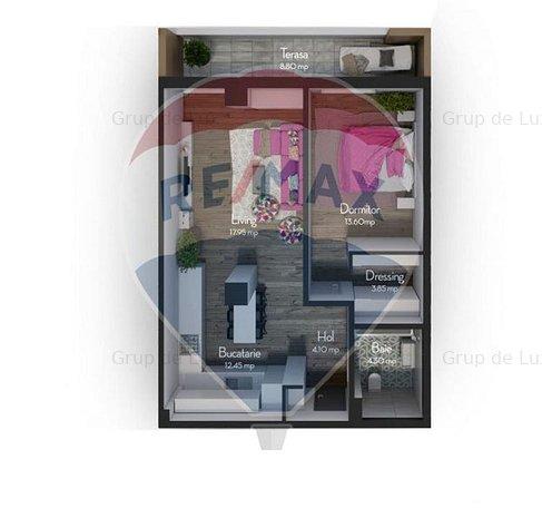 Apartament 2 camere, 56 mpu | Fara comision la achizitie - imaginea 1