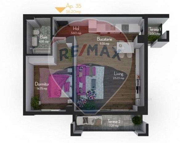 Apartament 2 camere 57 mpu, cu incalzire in pardoseala| Direct Dezvoltator - imaginea 1