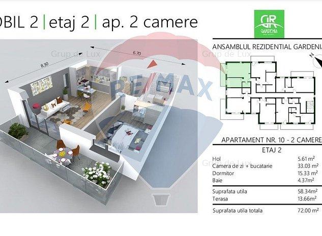 Apartament | 2 Camere | Zona Borhanci | Comision 0% - imaginea 1