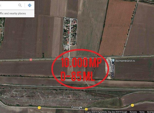 Teren 1 ha, DN3 Cta-Valu lui Traian, deschidere 85 m - imaginea 1