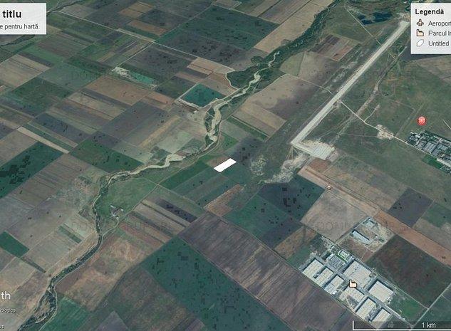 Teren de vanzare linga Aeroportul Inernational Ghimbav - imaginea 1