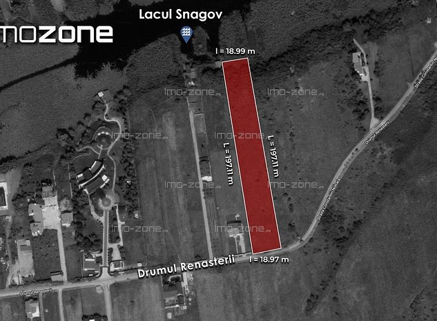 3,700 mp. liber, deschidere superba la LACUL SNAGOV - zona VLADICEASCA - imaginea 1