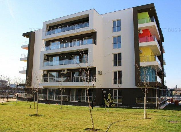 Apartament 3 camere zona Otopeni (Aeroport) bloc NOU- Complet Mobilat si Utilat - imaginea 1