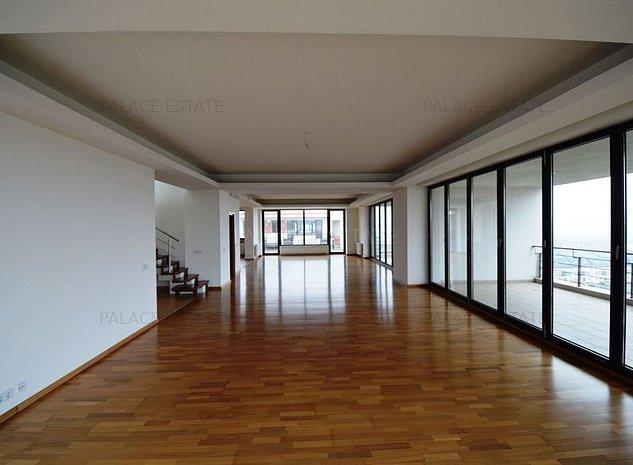 Penthouse ultramodern, 4 camere, rooftop, vedere panoramica si terasa de 190mp! - imaginea 1