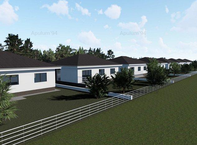 Domnesti, case  individuale pe parter, 3 camere, 100mp, teren 300mp.  - imaginea 1