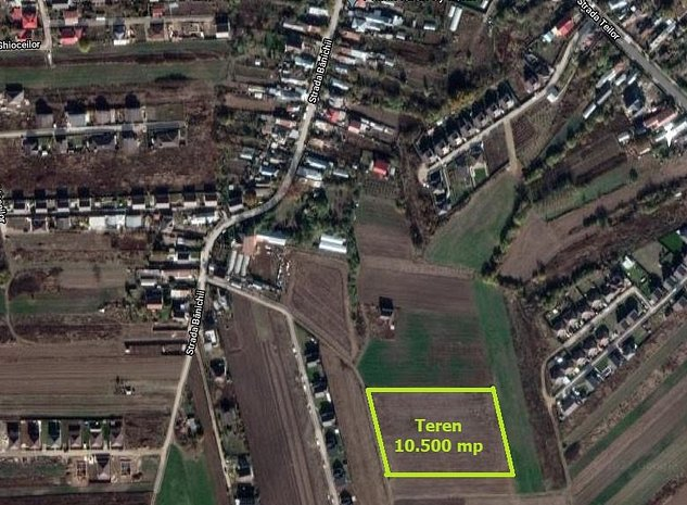 Sabareni, teren intravilan rezidential 10.500 mp cu 84 m front stradal - imaginea 1