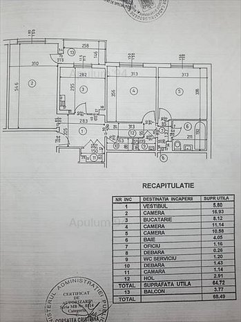 VANZARE APARTAMENT 3 CAMERE OLTENITEI-ADIACENT - imaginea 1