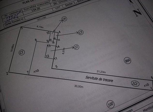 Teren 150 mp, Util 100 mp, casa demolabila. - imaginea 1