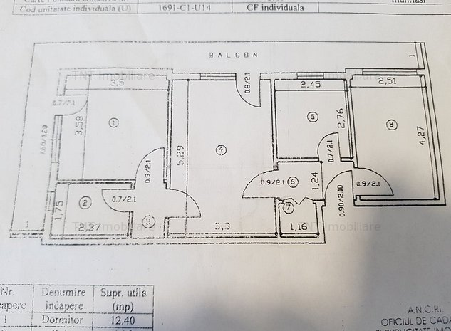 Vanzare apartament 3 camere SD Pd. Ros Cantemir - imaginea 1