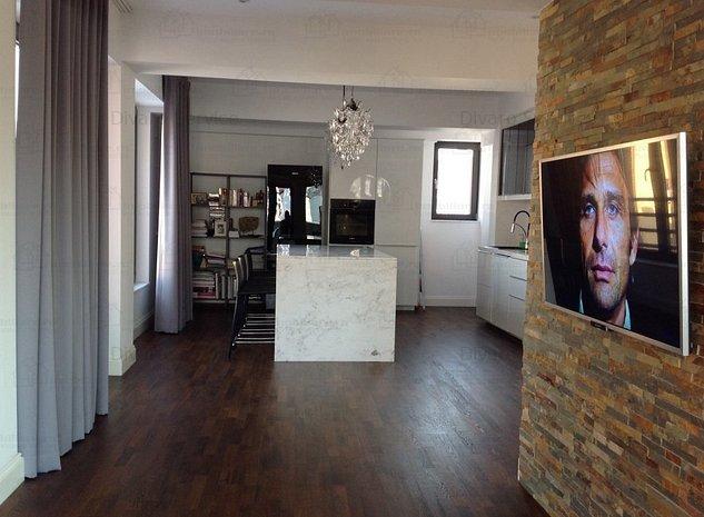 Apartament Penthouse 3 camere imobil 2015 Cismigiu cu terasa - imaginea 1