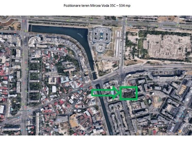 Vanzare teren 530 mp, zona Unirii, Certificat urbanism P+14 - imaginea 1