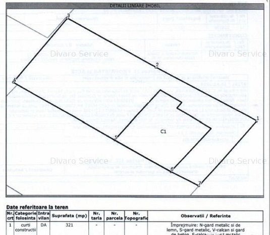 Vanzare teren 321 mp+casa 70 mp Domenii - imaginea 1