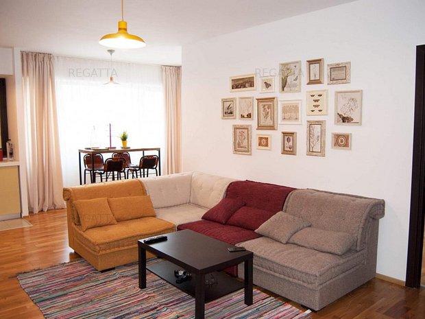 Apartament de inchiriat 3 camere - Pipera- mobilat - utilat - imaginea 1