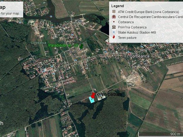 Teren Corbeanca langa padure, ideal pentru proiect rezidential - imaginea 1