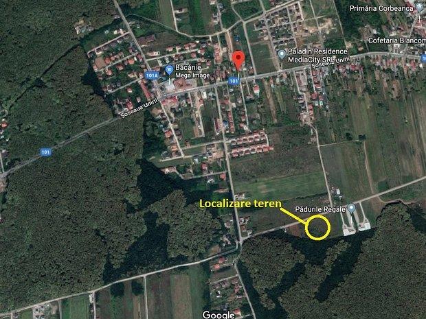 Teren Corbeanca langa padure, ideal pentru proiect rezidential - imaginea 2