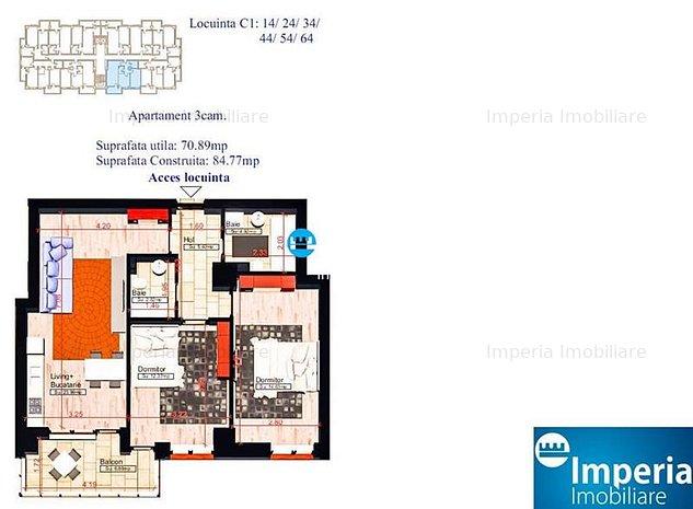 Apartamente noi, 3 camere, COPOU - Sadoveanu, Discount Considerabil pentru plata - imaginea 1