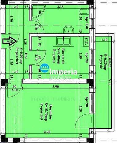 Apartament 1 camera decomandat - imaginea 1