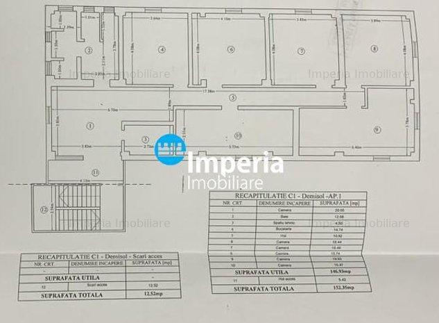 Spatiu de birouri zona Tatarasi - Eternitate, 152mp - imaginea 1