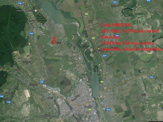 Teren Hemeius 555 mp, la 8 km de Bacau - imaginea 2