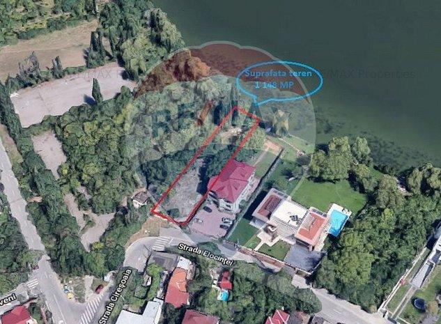 Teren situat in Bucurestii Noi cu deschidere la lac - imaginea 1