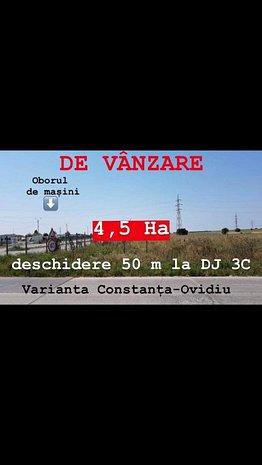 Constanta, Varianta Ovidiu, Oborul de Masini, 4,5 HA, Ideal Investitie !!! - imaginea 1