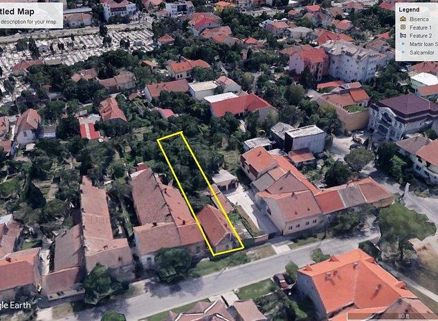 Teren cu casa demolabila zona Balcescu str Cozia - imaginea 1