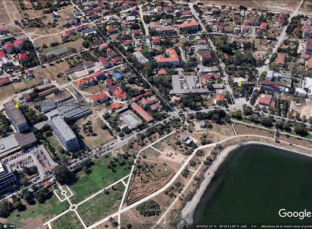 Ultracentral Techirghiol, teren 877 mp aproape de Sanatoriul Balnear - imaginea 1