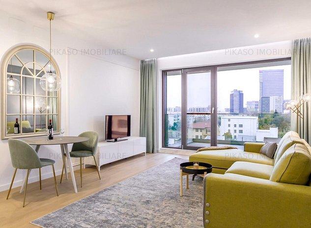 inchiriere apartament 2 doua camere=One Herestrau Plaza. - imaginea 1