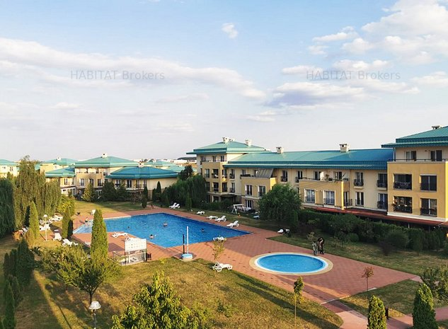 Cosmopolis, loc de parcare, vedere piscina | 3 camere decomandat - imaginea 1
