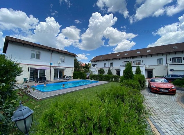 Vila moderna, complex rezidential cu piscina,zona Iancu Nicolae, - imaginea 1