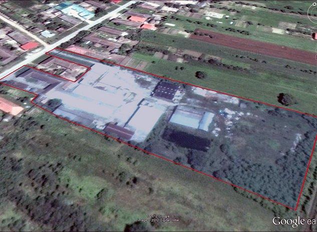 Proprietar, vând teren cu clădiri Peciu Nou, la 16 km de Timșoara - imaginea 1