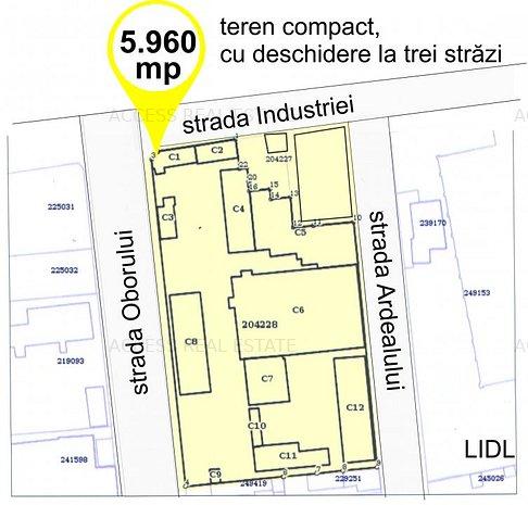 ICIL, Teren cu deschidere la 3 străzi, ideal pentru construcții de blocuri - imaginea 1