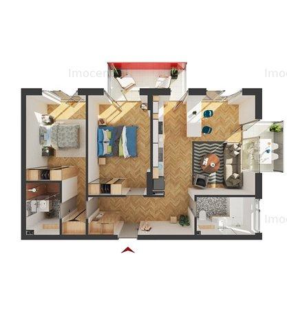 Apartament cu 3 camere de vaznare in imobil nou - imaginea 1