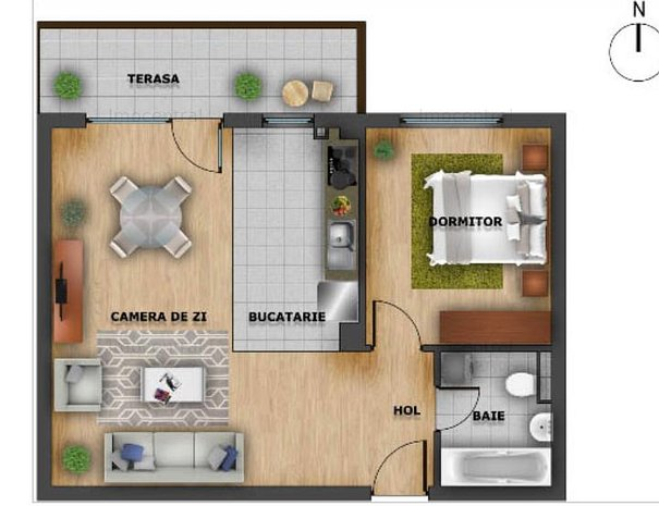 Apartament 2 camere Nou Europa - imaginea 1