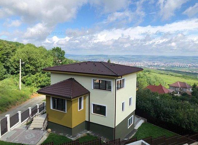 Casa individuala, finalizata, garaj, panorama superba asupra Clujului - imaginea 1