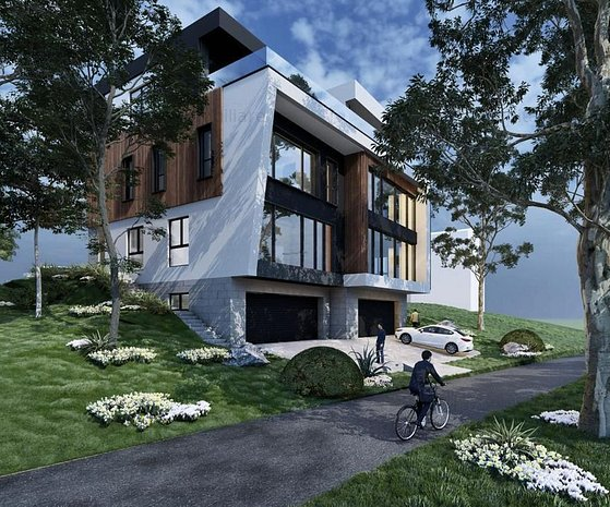 Casa cuplata, 215 mp utili, garaj, terasa si priveliste unica, Gruia - imaginea 1