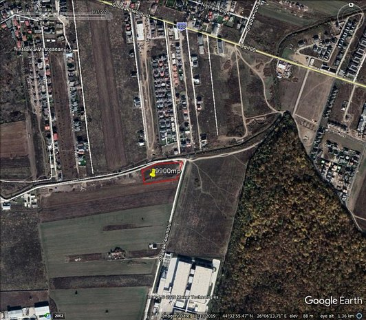 Teren 10000mp str Transilvaniei Otopeni deschidere dubla 200m - imaginea 1
