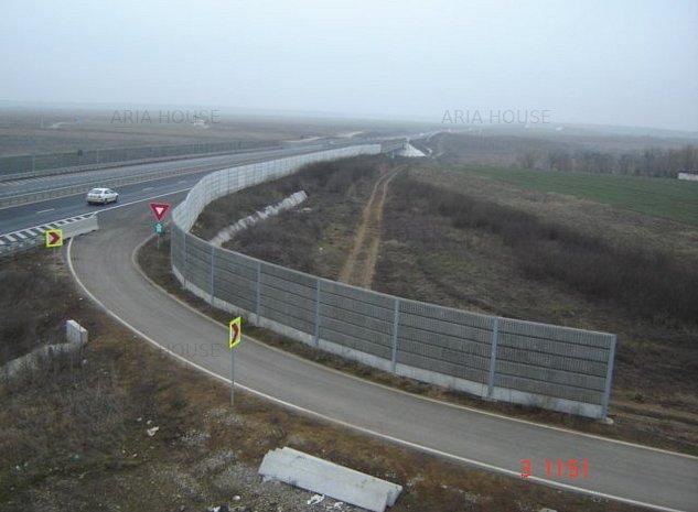 Teren 4325mp Moara Vlasiei Nod Autostrada A3 Soseaua Unirii - imaginea 1