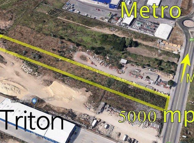 Teren intravilan 5000 mp zona Metro - cu deschidere directa la Aurel Vlaicu - imaginea 1