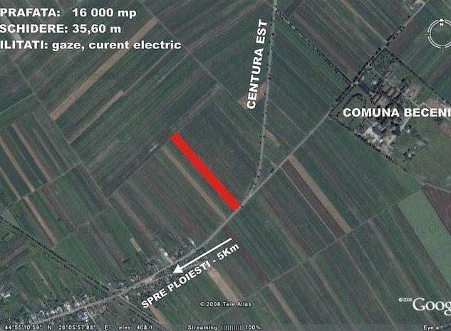 Teren 16.000 mp deschidere Centura Est Ploiesti - imaginea 1