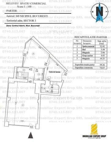 Centrul Istoric - Spatiu comercial: 115 mpu, ~ 5ml vitrina. - imaginea 1