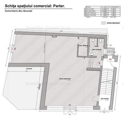 Centrul Istoric: Spatiu com. 240 mpu, pretabil restaurant cu terasa - imaginea 1