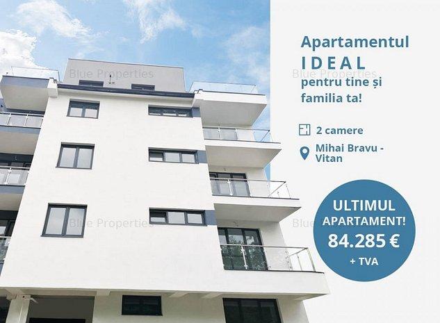 Apartament 2 camere la 5 minute metrou Mihai Bravu, imobil nou - imaginea 1