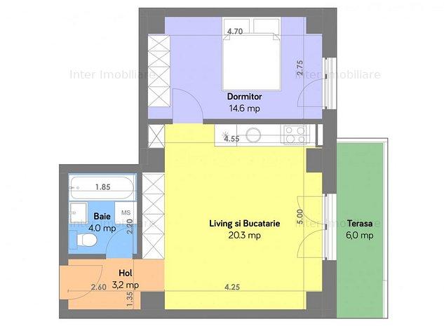 Apartament 2 cam,bloc construit,Targusor-Sararie, cod:133404 - imaginea 1