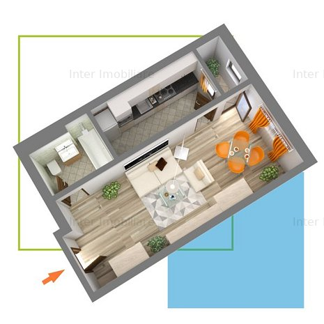Apartament cu 1 camera decomandat bloc nou finalizat Nicolina Cod oferta139312 - imaginea 1