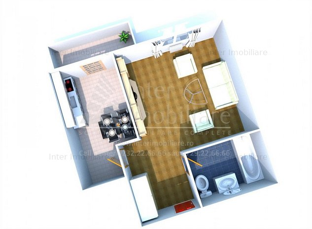 Apartament 1 camera D, Poitiers- Continental cod: 140222 - imaginea 1