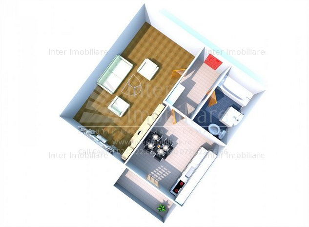 Apartament 1 cam D Nicolina 2 Bd Poitiers cod:140222 - imaginea 1
