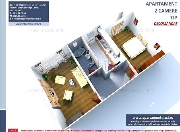 Apartament 2 camere decomandat, BLOC NOU - Bucium- Visani - 141449 - imaginea 1