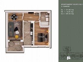 Apartament de vânzare 2 camere, în Bucuresti, zona Liviu Rebreanu